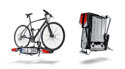 Preklopivi nosač za kuku, za dva bicikla